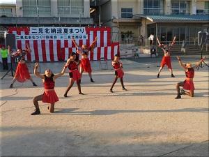 二見北納涼夏祭り CHICAダンススタジオさん