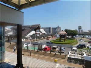 JR「土山駅」の南側のロータリー