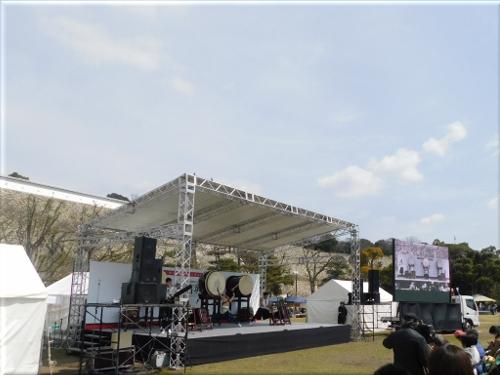 明石城築城400周年記念事業オープニングイベント とき打ち太鼓の演奏