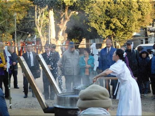 鳥羽八幡神社 湯立て神事