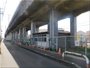 新幹線の高架