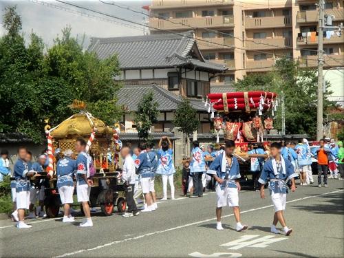 岩屋神社秋祭り 地区巡行 4