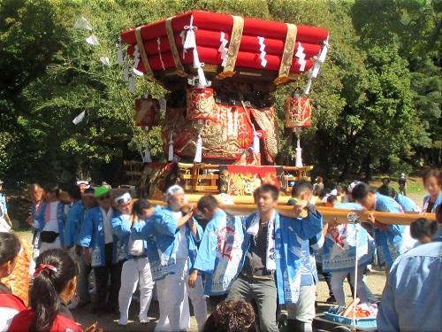 岩屋神社秋祭り 地区巡行 8