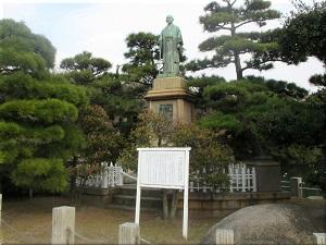 中部幾次郎翁銅像
