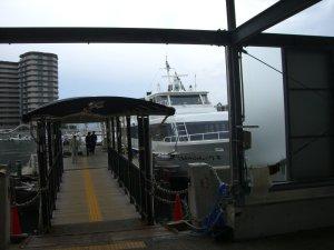 明石港に到着