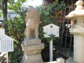 柿本神社 石造狛犬