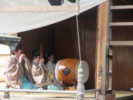 休天神社 神楽舞