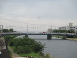 明石川河口に架かる大観橋